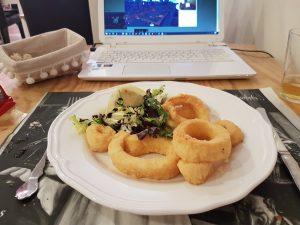 Menú del Día Calamares a la Andaluza Restaurante Maribarbola