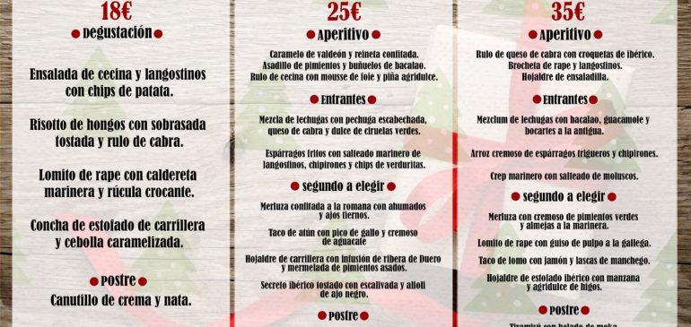 Menú Grupos Navidades Restaurante Valladolid