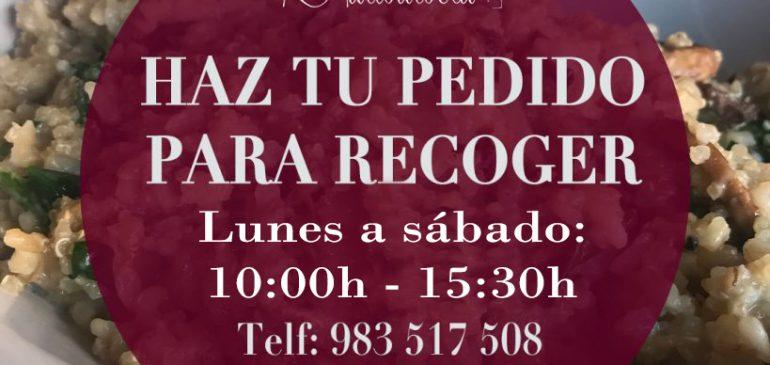 Menú del día a Recoger en Restaurante Valladolid